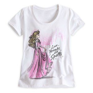 Sleeping Beauty White T-Shirt Disney